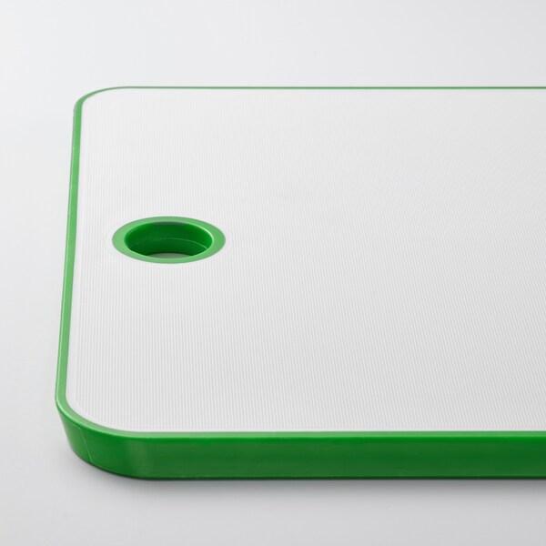 MATLUST Skærebræt, grøn/hvid, 34x24 cm