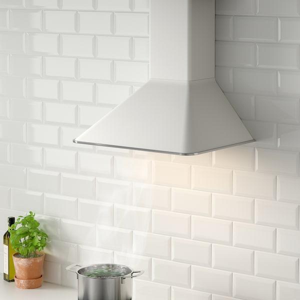 MATTRADITION Vægmonteret emhætte, hvid, 60 cm