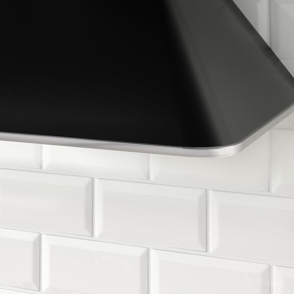 MATTRADITION Vægmonteret emhætte, sort, 60 cm