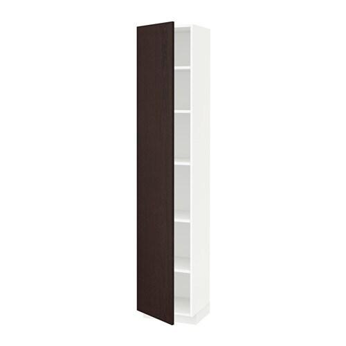 Metod højskab med hylder   hvid, veddinge hvid, 60x60x200 cm   ikea