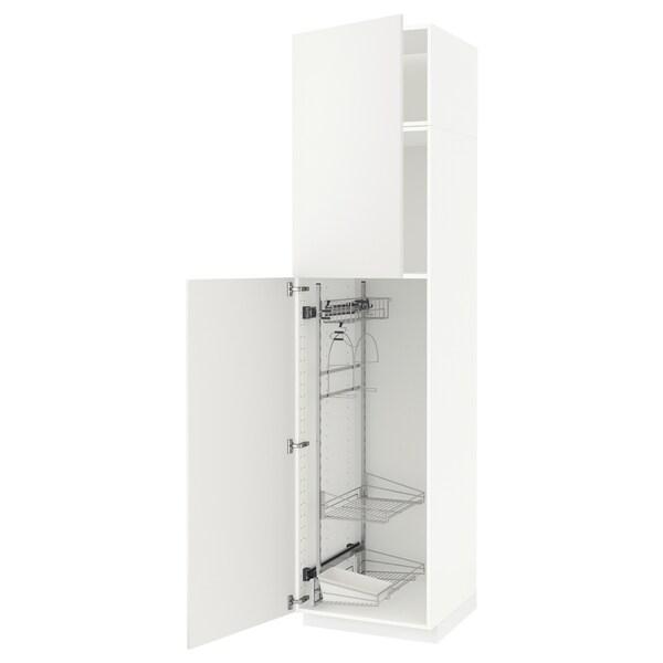 METOD højskab med opbevar rengøringsartik hvid/Häggeby hvid 60.0 cm 61.6 cm 248.0 cm 60.0 cm 240.0 cm