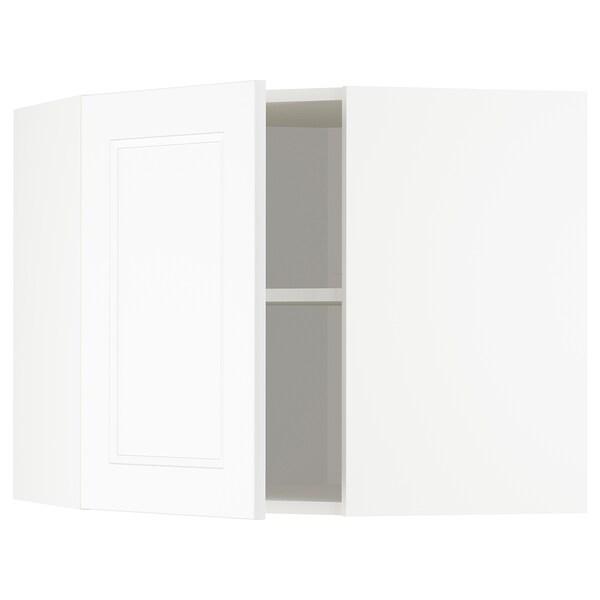 METOD Hjørnevægskab med hylder, hvid/Axstad mat hvid, 68x60 cm