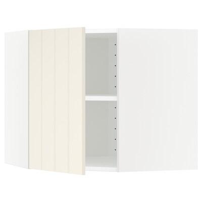 METOD Hjørnevægskab med hylder, hvid/Hittarp råhvid, 68x60 cm
