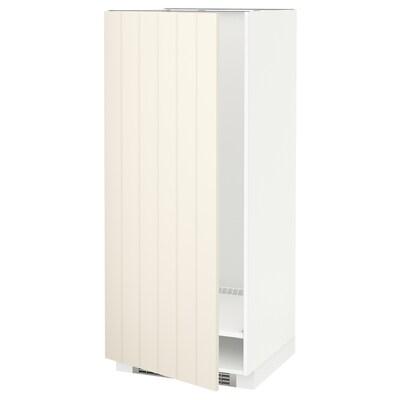 METOD Højskab til køl/frys, hvid/Hittarp råhvid, 60x60x140 cm