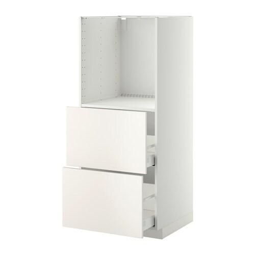 metod maximera h jskab m 2 skuffer til ovn hvid veddinge hvid ikea. Black Bedroom Furniture Sets. Home Design Ideas