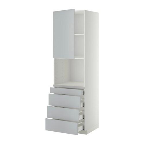 Ikea Kok Veddinge Gra : METOD  MAXIMERA Hojskab til kombiovn4 skuffer IKEA Skuffen lukker