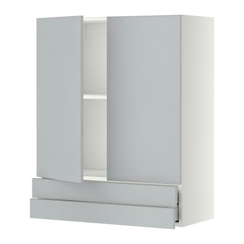 Ikea Kok Veddinge Gra :  Vogskab med 2 dore2 skuffer  hvid, Veddinge gro, 80×100 cm  IKEA