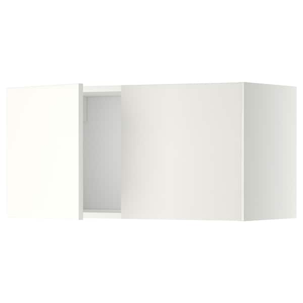 METOD Vægskab med 2 låger, hvid/Häggeby hvid, 80x40 cm