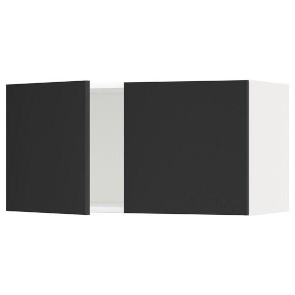 METOD Vægskab med 2 låger, hvid/Uddevalla antracit, 80x40 cm