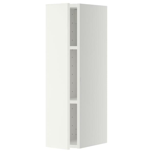 METOD Vægskab med hylder, hvid/Häggeby hvid, 20x80 cm