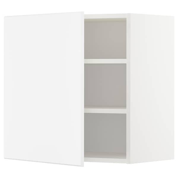 METOD Vægskab med hylder, hvid/Kungsbacka mat hvid, 60x60 cm
