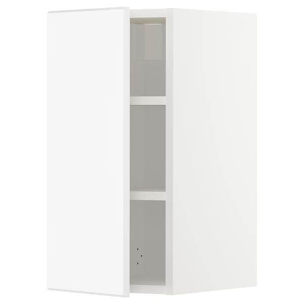 METOD Vægskab med hylder, hvid/Kungsbacka mat hvid, 30x60 cm