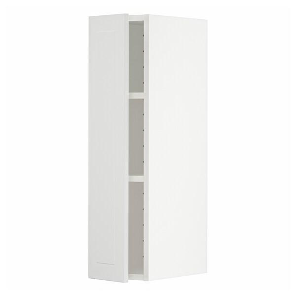 METOD Vægskab med hylder, hvid/Stensund hvid, 20x80 cm