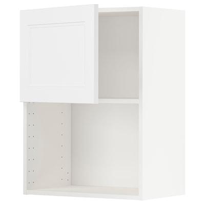 METOD Vægskab til mikroovn, hvid/Axstad mat hvid, 60x80 cm