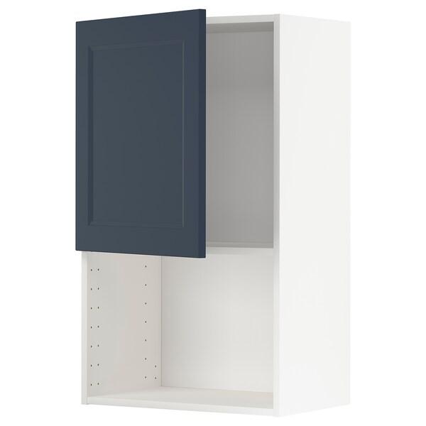 METOD Vægskab til mikroovn, hvid Axstad/mat overflade blå, 60x100 cm