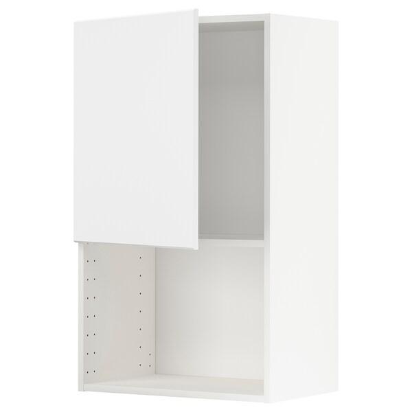 METOD Vægskab til mikroovn, hvid/Kungsbacka antracit, 60x100 cm