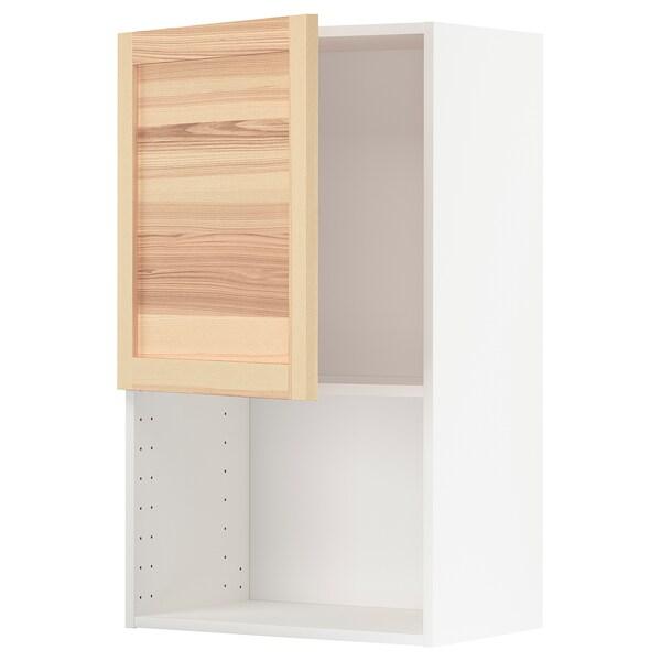 METOD Vægskab til mikroovn, hvid/Torhamn ask, 60x100 cm