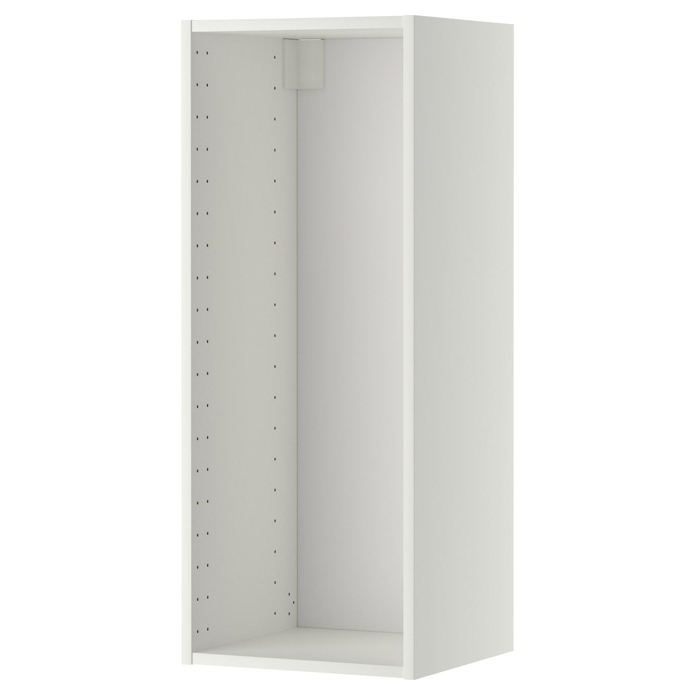 Picture of: Metod Vaegskabsstel Hvid 40x37x100 Cm Ikea