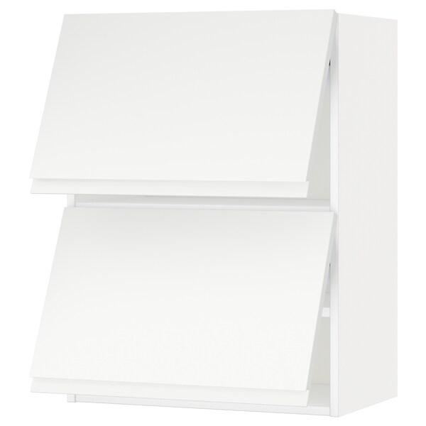 METOD Vsk horis 2 lå åbne, hvid/Voxtorp mat hvid, 60x80 cm