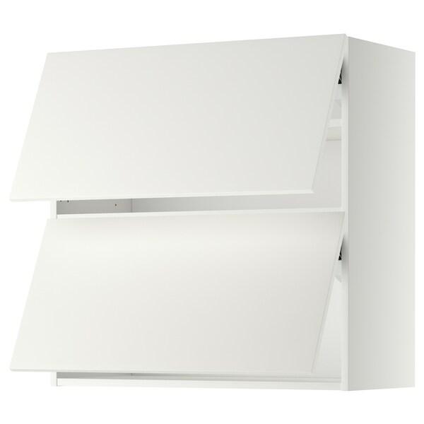 METOD horisontalt vægskab med 2 låger hvid/Häggeby hvid 80.0 cm 38.6 cm 80.0 cm