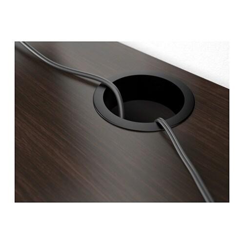 MICKE Skrivebord - sortbrun - IKEA