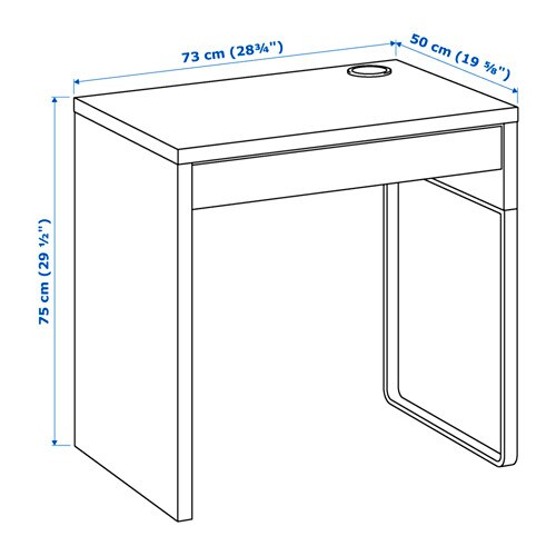 Micke Skrivebord Hvid Ikea