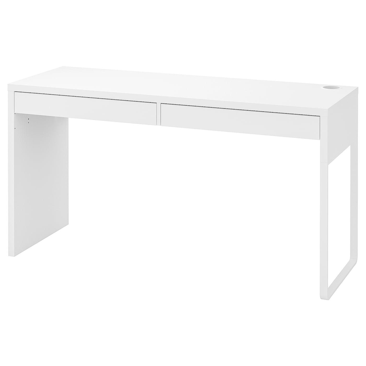 Picture of: Micke Skrivebord Hvid 142×50 Cm Ikea