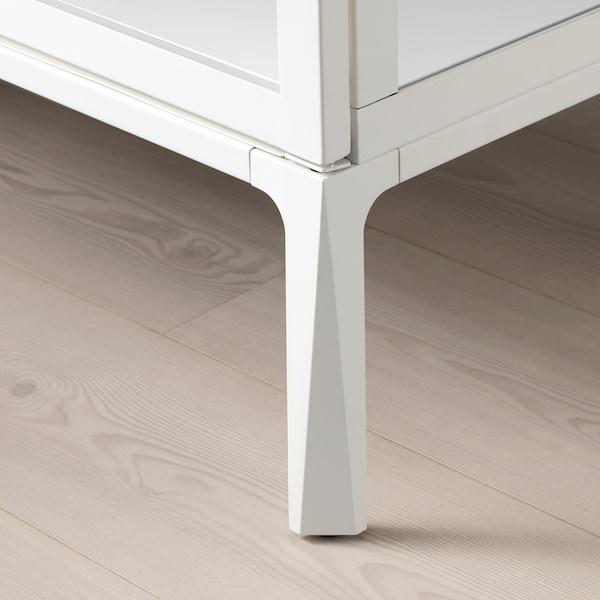 MILSBO Vitrineskab, hvid, 101x100 cm