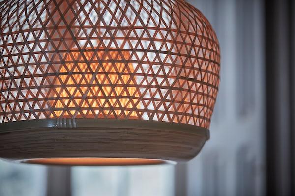 MISTERHULT Loftlampe, bambus/håndlavet, 45 cm
