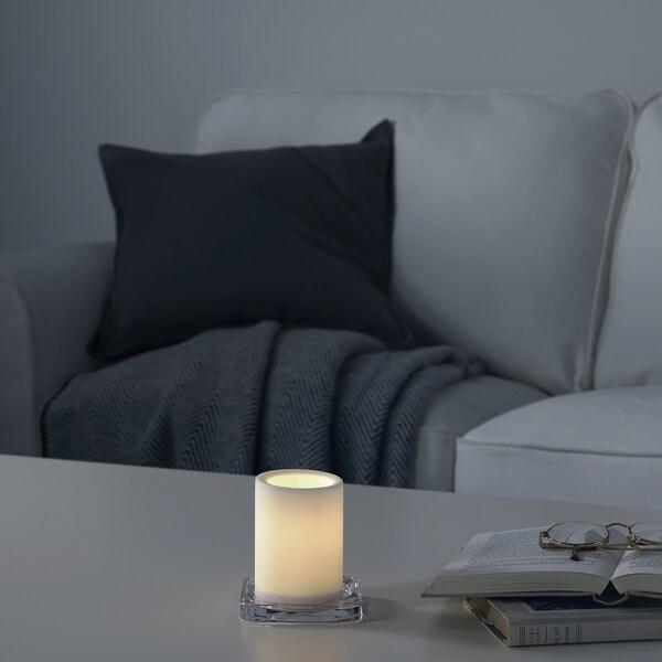 MOGNAD LED-bloklys, batteridrevet/hvid, 10 cm
