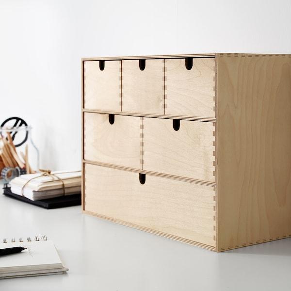 MOPPE Minikommode, birketræsfiner, 42x18x32 cm