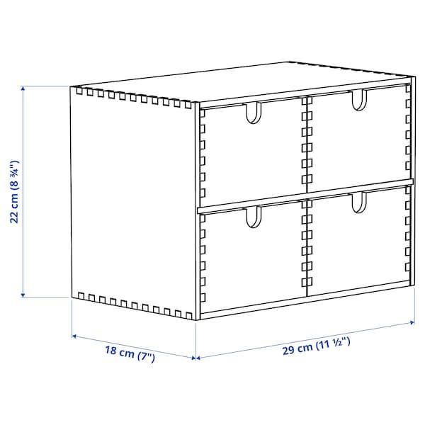 MOPPE Minikommode, birketræsfiner, 29x18x22 cm