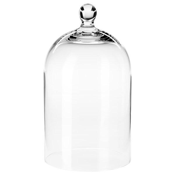 MORGONTIDIG Glaskuppel, klart glas, 25 cm