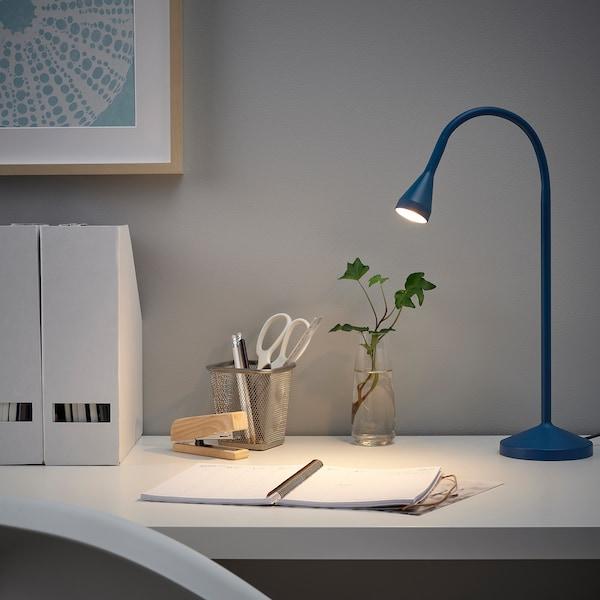 NÄVLINGE LED-skrivebordslampe, mørkeblå