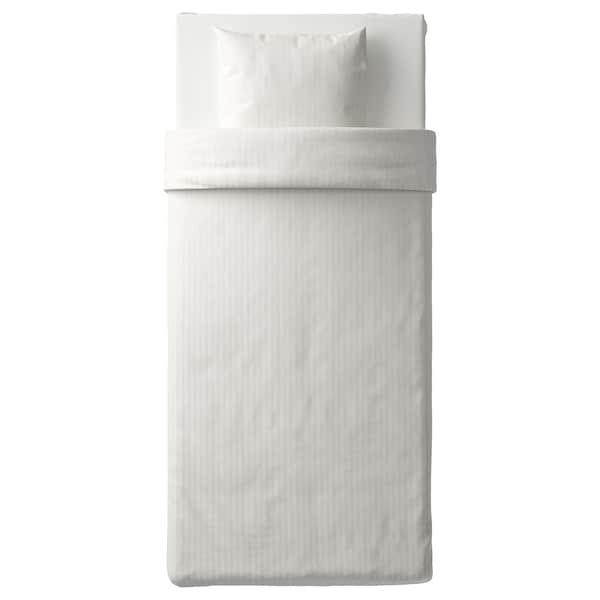 NATTJASMIN Dynebetræk og pudebetræk, hvid, 140x200/60x70 cm