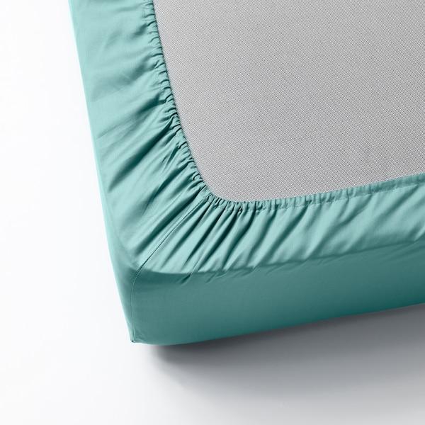 NATTJASMIN Formsyet lagen, turkisgrå, 160x200 cm