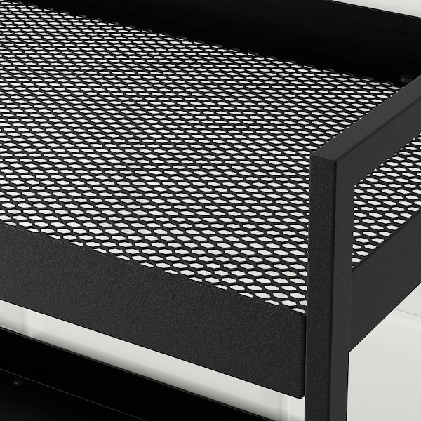 NISSAFORS Rullebord, sort, 50.5x30x83 cm