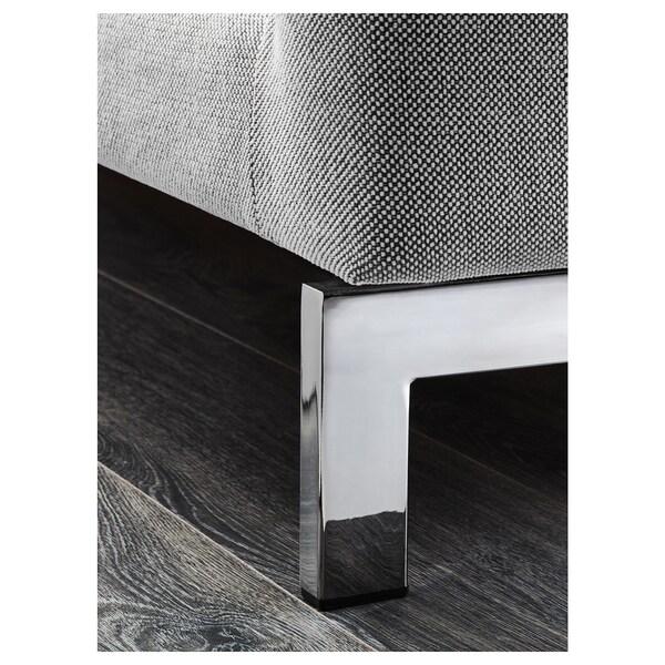 NOCKEBY 3-pers. sofa, med chaiselong, højre/Tallmyra hvid/sort/forkromet