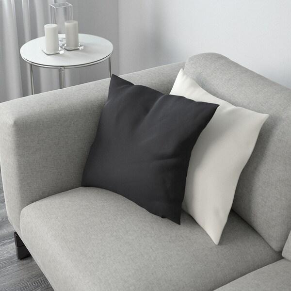 NOCKEBY 3-pers. sofa, Tallmyra hvid/sort/træ