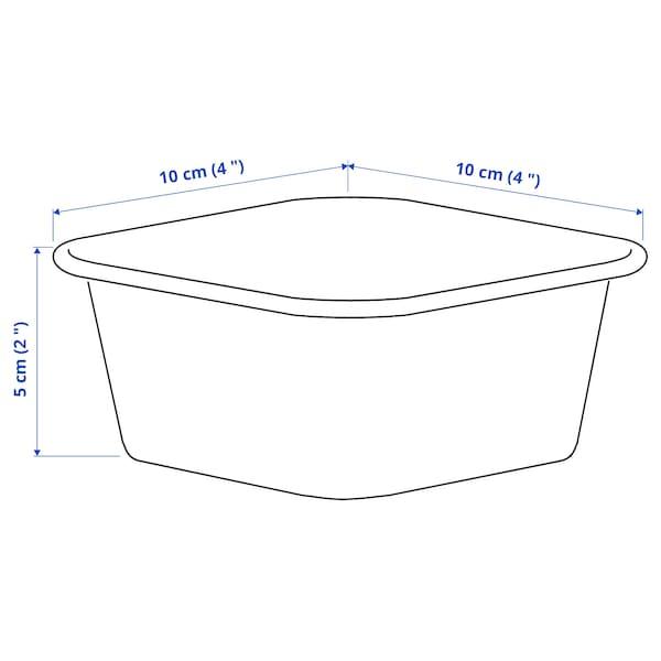 NOJIG Opbevaring, plast/beige, 10x10x5 cm