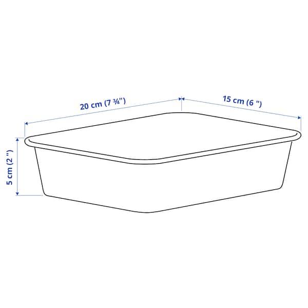 NOJIG Opbevaring, plast/beige, 15x20x5 cm