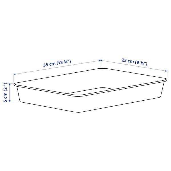 NOJIG Opbevaring, plast/beige, 25x35x5 cm