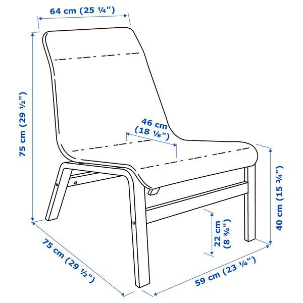 NOLMYRA Lænestol, sort/sort
