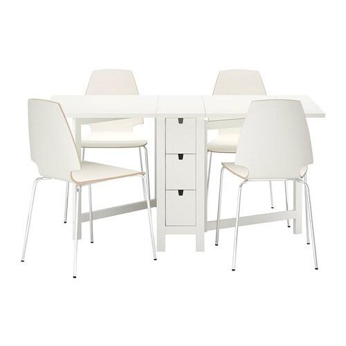 NORDEN / VILMAR Bord og 4 stole IKEA Bord med klap. Til 2-4 personer ...