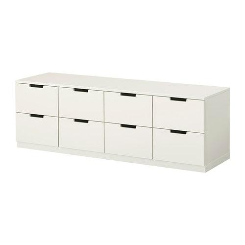NORDLI Kommode 8 skuffer - hvid - IKEA