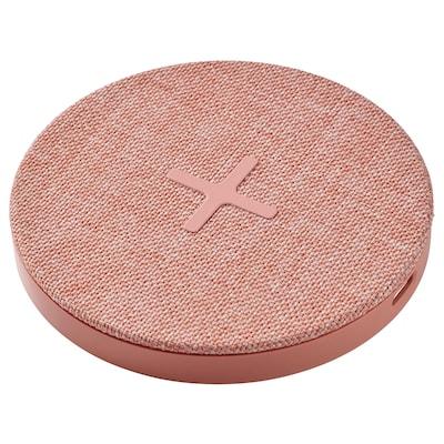 NORDMÄRKE Trådløs oplader, tekstil/pink