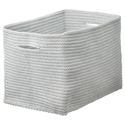 NORDRANA Kurv, grå, 35x26x26 cm