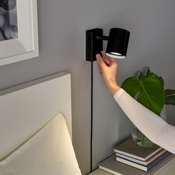 NYMÅNE Væg-/læselampe, antracit