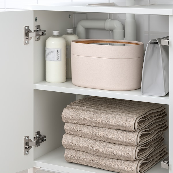 NYSJÖN Underskab til vask med 2 låger, hvid, 50x65 cm