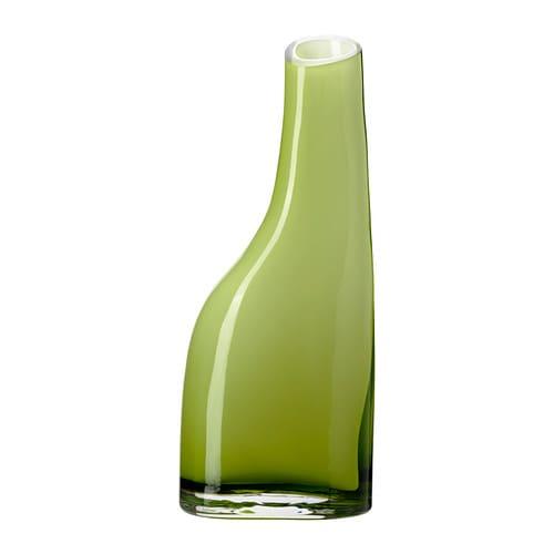 OCKSÅ Vase , grøn Højde: 20 cm